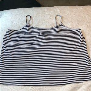 Lane Bryant black and white striped cami NWT